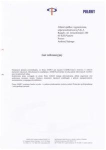 Referencje - Grupa Azoty