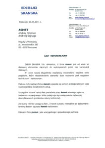 Referencje - Exbud Skanska
